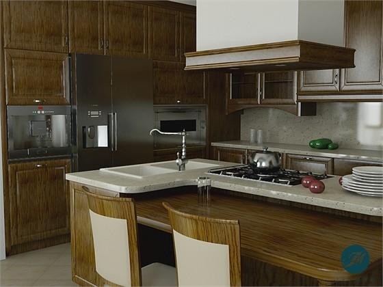 Projekty wnętrz  Kuchnia  Windsor W1 -> Projekt Kuchnia Restauracja Koszalin