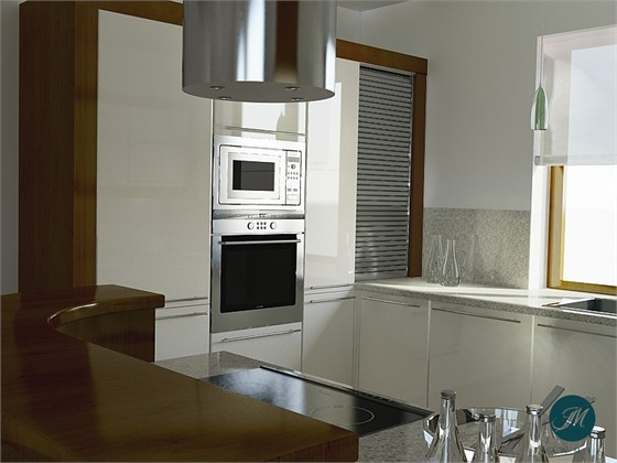 Projekty wnętrz  Kuchnia  Bianca B1 -> Kuchnia Fornir Buk