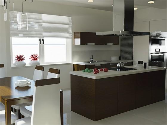 Cocina cocinas de 15 metros con isla decoraci n de for Interiores de cocinas